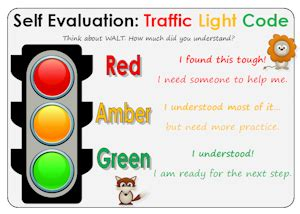 traffic light poster for classroom traffic light self assessment teaching ideas resources