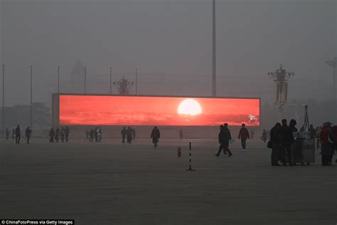 3x4m Greyscreen Broadcast Tv Quality china starts televising the on tv screens because beijing is so clouded in smog