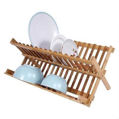Wooden Washing Up Rack by Bamboo Draining Rack Dish Drainer Plate Wooden Folding