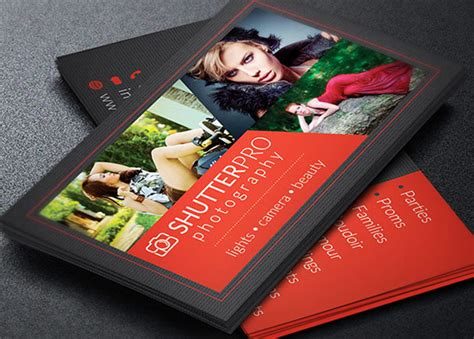 Portrait Business Card Template by Photography Business Card Template Godserv Market
