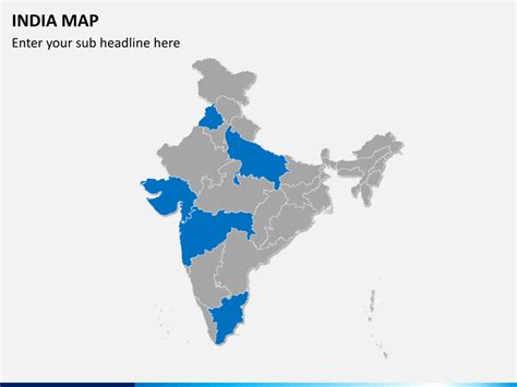 Editable India Map For Powerpoint Sketchbubble Editable Map Of India