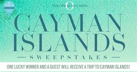 First Magazine Sweepstakes - oprah magazine cayman islands sweepstakes oprah com caymanislandssweeps