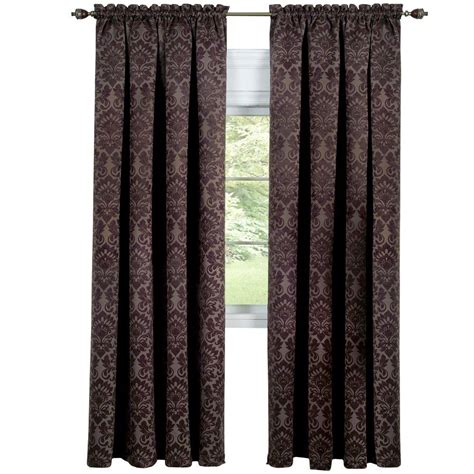 navy and tan curtains home decorators collection 15 in l polyester and cotton