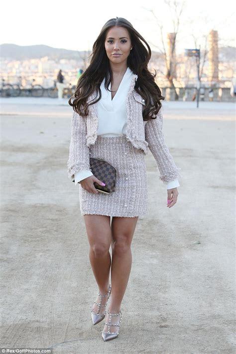 Zilbab Yasmina Top Dusty Pink green leads towie filming in barcelona in