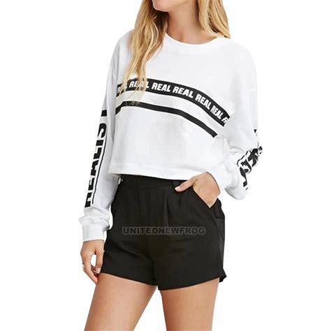 Basic Crop Blouse sleeve crop top blouse crew