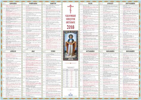 Calendar 2018 Ortodox Calendar Ortodox 2018 Si Sarbatori Religioase Sfintii Zilei