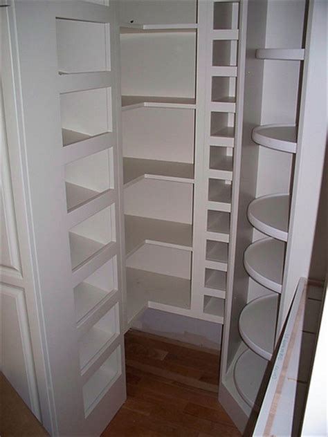 Corner Pantry Shelving by Kitchen Layouts With Walk In Pantry Studio Design
