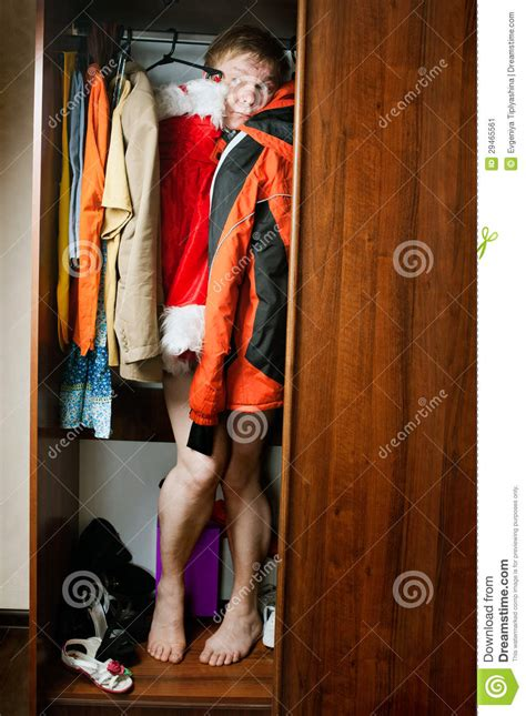 Hiding In The Closet by A Hiding Stock Image Image 29465561