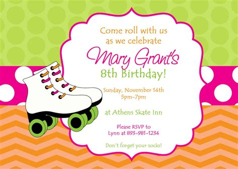 Skating Party Invitations Party Invitations Templates Skating Invitation Template Free