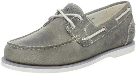 timberland gray boat shoes timberland timberland womens amherst boat shoe loafer in