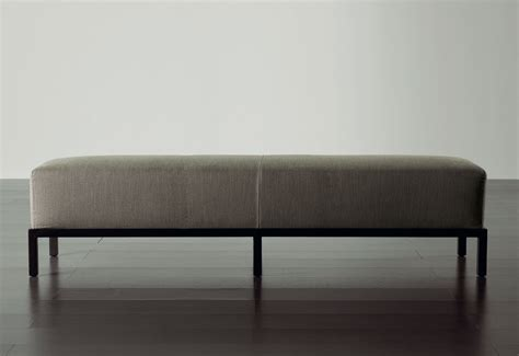contemporary upholstered bench contemporary upholstered bench leather gray berry