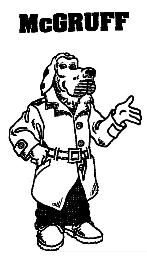 Mcgruff Coloring Pages mcgruff coloring pages az coloring pages