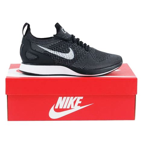 Nike Air Zoom Flyknit Racer by Nike Air Zoom Flyknit Racer Black White Grey