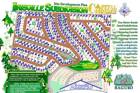 nuvista san jose map baguio irisville subdivision phase ii baguio irisville