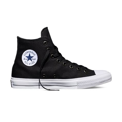 Sepatu Converse Chuck 2 Black High Premium chuck all ii hi in black converse black 150143c