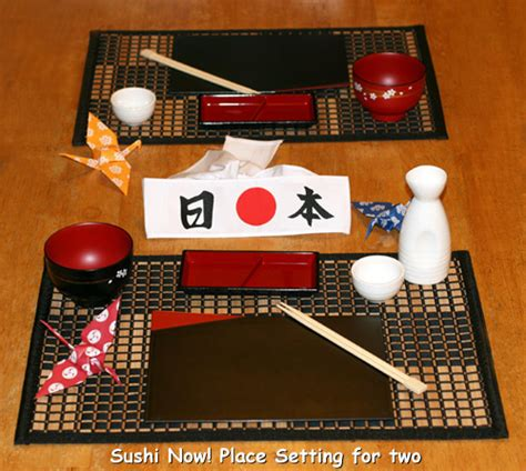 Japanese Table Sushi Now Place Setting Gift