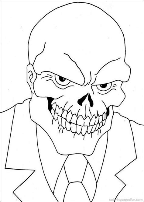red skull coloring pages get coloring pages