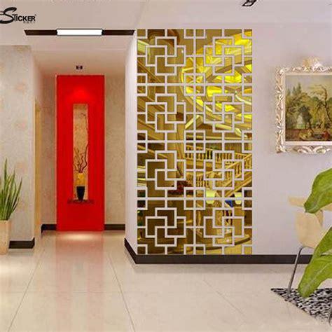 decoration mirrors home moza new 2015 diy 4lot set 3d acrylic mirror wall stickers