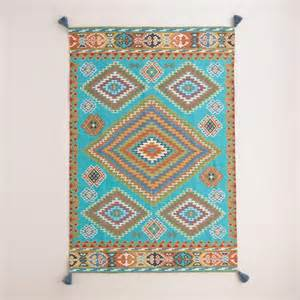 Cost Plus Outdoor Rugs Blue Odina Kilim Flatweave Reversible Indoor Outdoor Rug In India Cost Plus And India