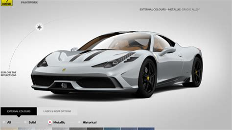 Ferrari Config by Ferrari Configurator Lets You Play 458 Speciale Customer