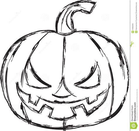 doodle zucca di zucca fumetto di illustrazione di vettore