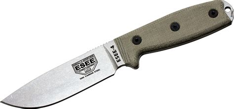 rc 4 knife esee knives esee 4p uc uncoated plain edge coyote brown