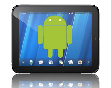 hp android tablet hp touchpad to run android thanks to touchdroid