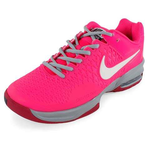 nike s air max cage tennis shoes hyper pink and