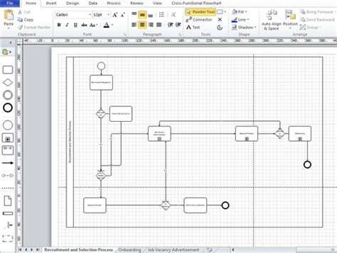 bpmn diagram in visio 2007 bizagi studio gt process wizard gt model process gt generating documentation gt exporting to visio