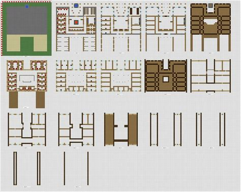 minecraft house blueprints layer by layer large country inn layer by layer minecraft pinterest