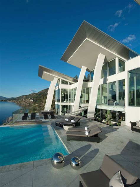 ultramodern lake house  luxurious details