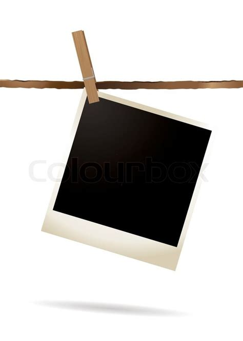 G7 3 Clip On Polaroid Terbaru clothesline polaroid clipart stock vector colourbox