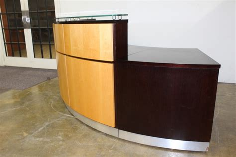 Custom Reception Desk Used Reception Desk Custom Built Used Cubicles
