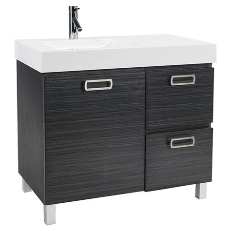 Rona Bedroom Vanity Turenne Vanity With 1 Door And 2 Drawers Grey Rona