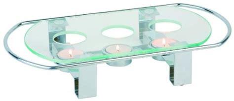 scaldavivande da tavolo scaldavivande in vetro e acciaio inox 12 5 x 4 cm