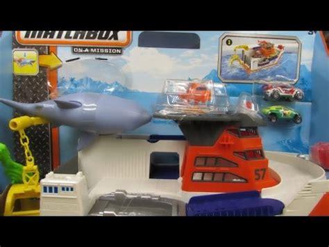 mission marine boats matchbox mission marine rescue shark ship youtube
