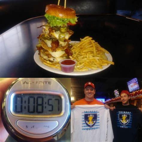 Navy Seal Burger crushes navy seal burger challenge at trident entertainment tucson
