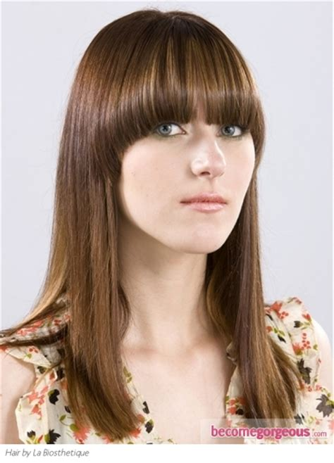 blunt fringe hairstyles pictures long hairstyles long hair style with blunt bangs
