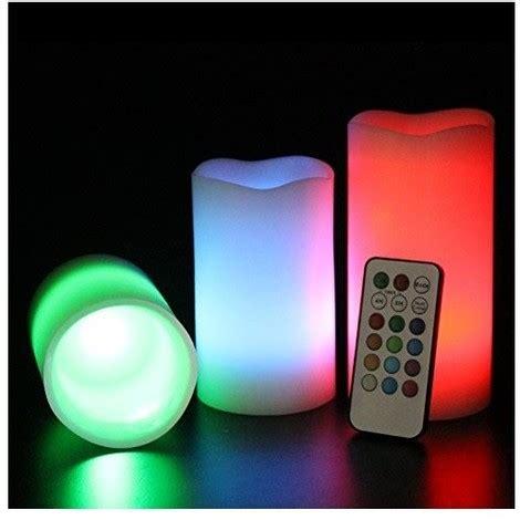 luce candela candela luce a led rgb set 3 candele colorate