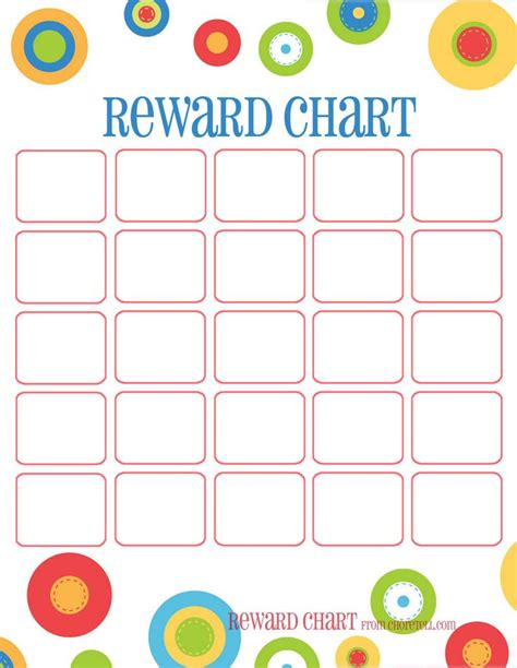 printable incentive reward charts free printable reward chart teaching ideas pinterest