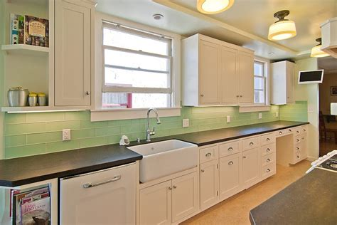 Green Subway Tile Kitchen Backsplash Tile Kitchen Backsplash Ideas With White Cabinets Home