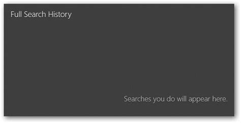 Can See Your Search History How To Use Search In Windows 8