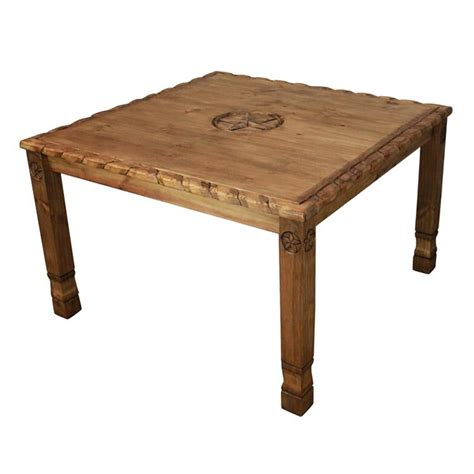 rustic pine collection texana nine dining table