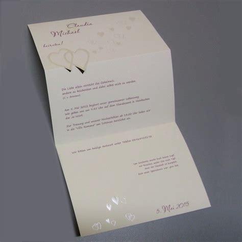 Stilvolle Hochzeitseinladungen by Stilvolle Hochzeitseinladung Mit Herzen In Perlmutt