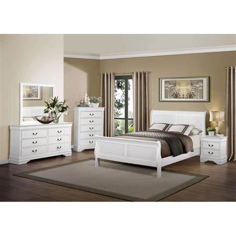 bedroom furniture set white mayville white 6 piece king bedroom set