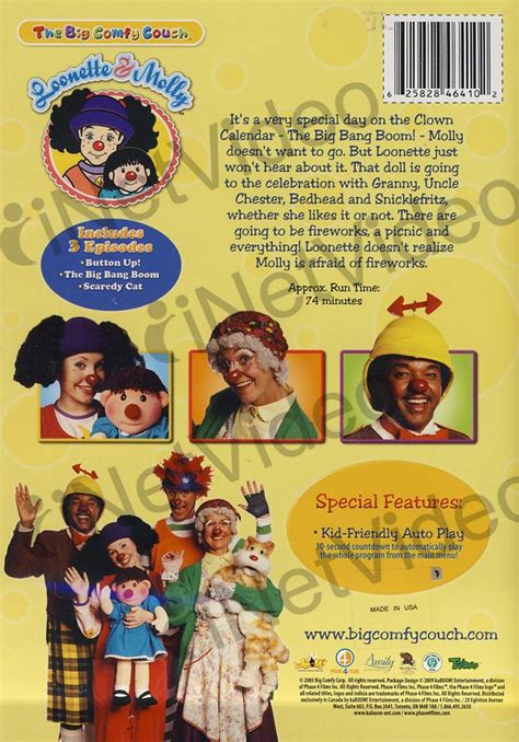 big comfy couch upside down clown big comfy couch naughty n nice on dvd movie