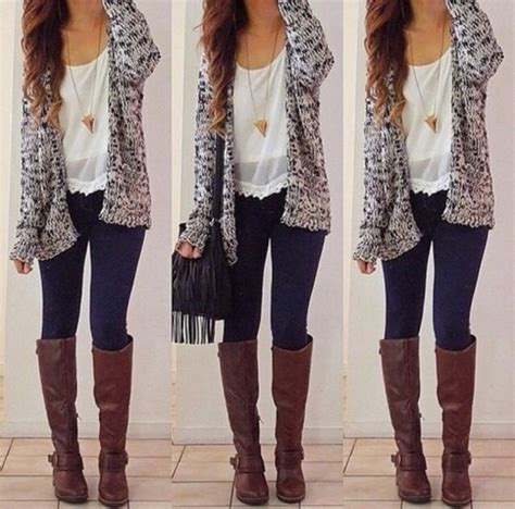 fall with brown boots