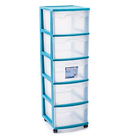 Sterilite 5 Drawer Storage Cart by Sterilite Teal 5 Drawer Cart Big Lots