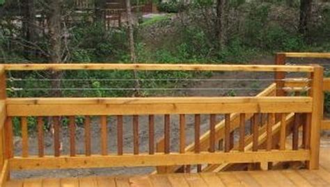cable railing  wood  deck railing mountain