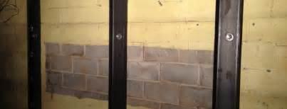 bowed basement walls basement wall repair bowing basement walls